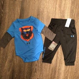 Under Armour Onesie bodysuit and pants set